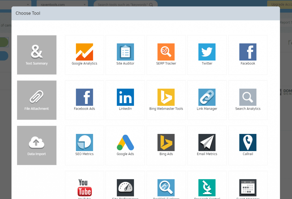 raven tools review - connect with third party apps